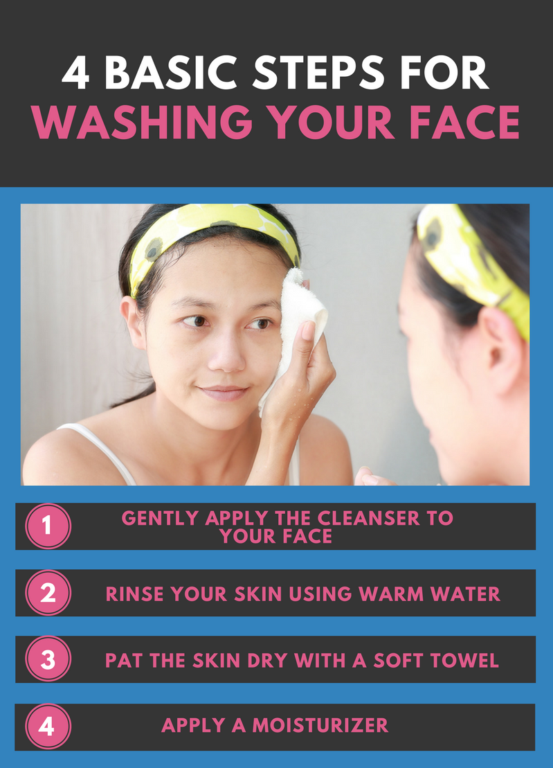 4 Basic Steps for Washing Your Face